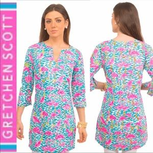 Gretchen Scott Flamingo print tunic dress